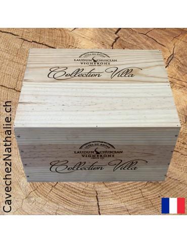 Collection Villa | Chusclan Côtes du Rhône Villages | Caisse bois