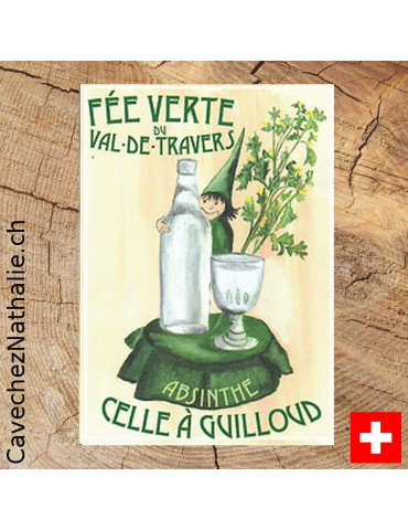 Absinthe Celle à Guilloud, étiquette
