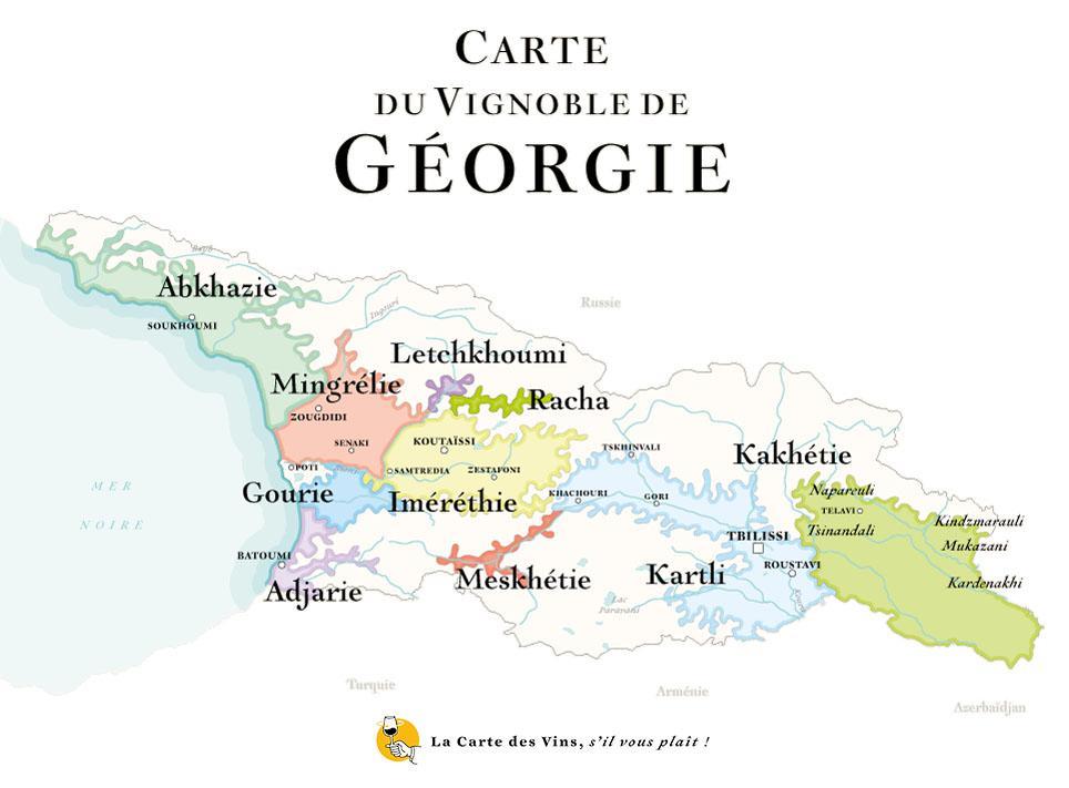 carte des vins Georgiens